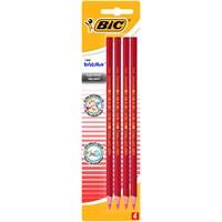 Bic Evolution Kırmızı Kopya Kalemi 4'lü Blister