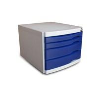 Ops CMC204 4 Çekmeceli Kilitli Evrak Rafı (Mavi)