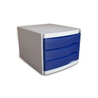 Ops CMC203 3 Çekmeceli Kilitli Evrak Rafı (Mavi)