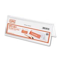 Ops OPS051 Çift Taraflı Kart Tutucu 200x70 mm (Şeffaf)