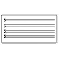 Akyazı 120x140 Laminat Müzik Çizgili Yazı Tahtası
