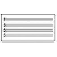 Akyazı 120x240 Laminat Müzik Çizgili Yazı Tahtası