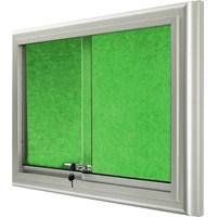 Akyazı 90x180 Alüminyum Camekanlı Kumaşlı Pano (Yeşil)