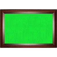 Akyazı 90x200 Geniş Ahşap Çerçeve Kumaşlı Pano (Yeşil)