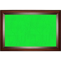 Akyazı 120x120 Geniş Ahşap Çerçeve Kumaşlı Pano (Yeşil)