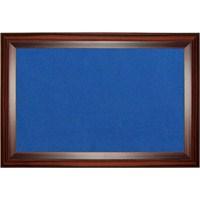 Akyazı 120x120 Geniş Ahşap Çerçeve Kumaşlı Pano (Mavi)