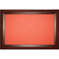 Akyazı 90x180 Geniş Ahşap Çerçeve Renkli Pano (Turuncu)