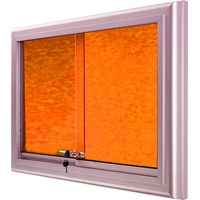 Akyazı 90x180 Alüminyum Camekanlı Kumaşlı Pano (Turuncu)