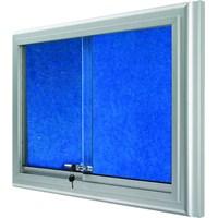 Akyazı 60x90 Alüminyum Camekanlı Kumaşlı Pano (Mavi)