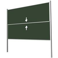 Akyazı 100x300 Giyotin Çiftli Emaye Yazı Tahtası (Yeşil)