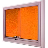 Akyazı 90x150 Alüminyum Camekanlı Kumaşlı Pano (Turuncu)