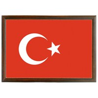 Akyazı 20x30 cm Ahşap Bayrak
