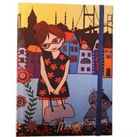 Biggdesign Çiçekli Kız Defter 14X20