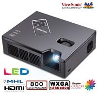 Viewsonic PLED-W800 800 Ansilümen 1280x800 WXGA 120.000:1 Projeksiyon Cİhazı (WPD-200 Wifi Adaptör Hediye)