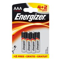 Energizer (D22-0633) Base Alkalin 4+2Li Bls AAA Kalem Pil