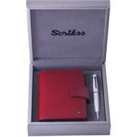 Scrikks SDR 308 Cep Ajandası Fuşya + 62 Tükenmez Kalem Beyaz Set