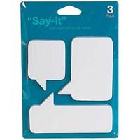 Konuşma Balonu Yapışkanlı Notluk Seti - &Quot;Say It&Quot; Adhesive Notelets