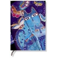 Paperblanks Blue Cats Midi Çizgili 397-5 Defter