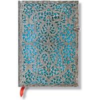 Paperblanks 2563-4 Silver Filigree Maya Midi Düz 240 Sayfa Defter