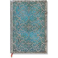 Paperblanks Pb-1-2559-7 Silver Filigree Maya Grande Düz Defter