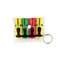 Mini Fosforlu Kalem Karışık Renk 4'lü