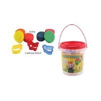 Lets L8700 8 Renk Plastik Kovalı Oyun Hamuru 360 Gr.(Kalıp Hediyeli)