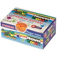 Nova Color Nc-138 Parmak Boyası 6 Renk 25 cc