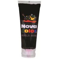 Nova Color Nc-260 Akrilik Boya Plastik Tüpte 75 gr Siyah