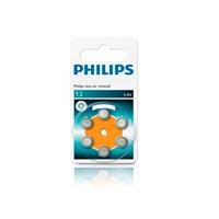 Phılıps Za13b6a/10 İşitme Cihazı Pili 13,1.4 V,Çinko,6'lı Blister