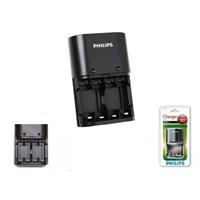 Philips Scb1405nb/12 - Scb1411nb/12 4 Lü Pil Şarj Cihazı
