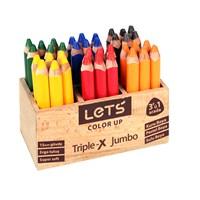 Lets L4536 Triple-X 6 Renk Jumbo Boya Kalemi 36Lı Ahşap Stand