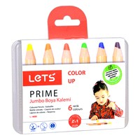Lets L4600 Prıme 6 Renk Jumbo Boya Kalemi