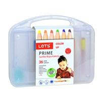 Lets L4636 Prıme 36'Lı Jumbo Boya Kalemi Plastik Kutu