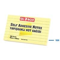 Globox Yapışkanlı Not Kağıdı 75X125 100 Yp. Çizgli 1026