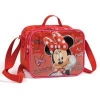 Minnie Mouse Kabartmalı All Style Beslenme Çantası