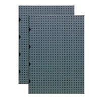 Paper-Oh 9182-0 Twin A5 Çizgili Grey On Black Defter