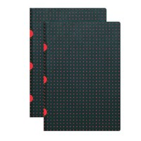 Paper-Oh 9174-5 Twin A4 Çizgili Black On Red Defter
