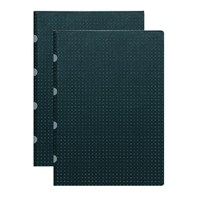 Paper-Oh 9162-2 Twin A4 Çizgili Black On Grey Defter