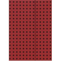 Paper-Oh 9056-4 Quadro B5 Çizgili Red On Black Defter