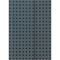Paper-Oh 9055-7 Quadro B5 Çizgisiz Grey On Black Defter