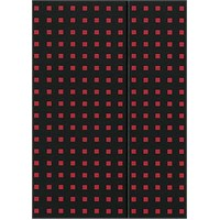 Paper-Oh 9051-9 Quadro B5 Çizgisiz Black On Red Defter