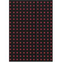 Paper-Oh 9051-9 Quadro B5 Çizgisiz Black On Red Defter