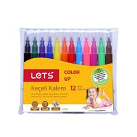 Lets 12 Renk Yarım Boy Keçeli Kalem L-7110