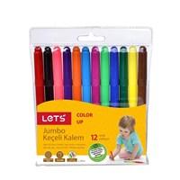 Lets 12 Renk Jumbo Keçeli Kalem L-7012
