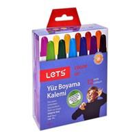 Lets 12 Renk Çevirmeli Yüz Boyama Kalemi L-6812