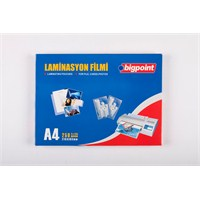 Bigpoint Laminasyon Filmi A4 125 Micron 100'Lü