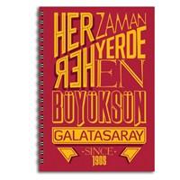 Keskin 320122G Galatasaray Plastik Kapak Spiralli A4 80 Yaprak Çizgili