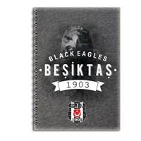 Keskin 320121B Beşiktaş Plastik Kapak Spiralli A4 80 Yaprak Çizgili