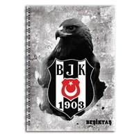 Keskin 320122B Beşiktaş Plastik Kapak Spiralli A4 80 Yaprak Kareli