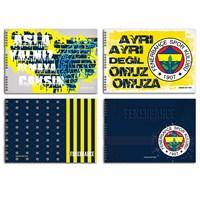 Keskin 300215-65 Fenerbahçe 25x35 cm Resim Defteri 15 Yaprak